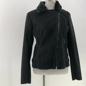 lord & taylor design lab jacket faux suede M